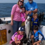 Family salmon  fishing charters on Lake Ontario can be a blast!