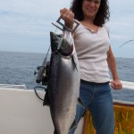 Lake Ontario Salmon Fishing was hot and heavy aboard the Fish Doctor off Oswego on July 17, 2009