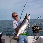 Lake Ontario salmon fishing in July, 2009.