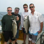 "U.S. Marines Chance and ""Al"" with two nice browns they boated on June 28, 2011."
