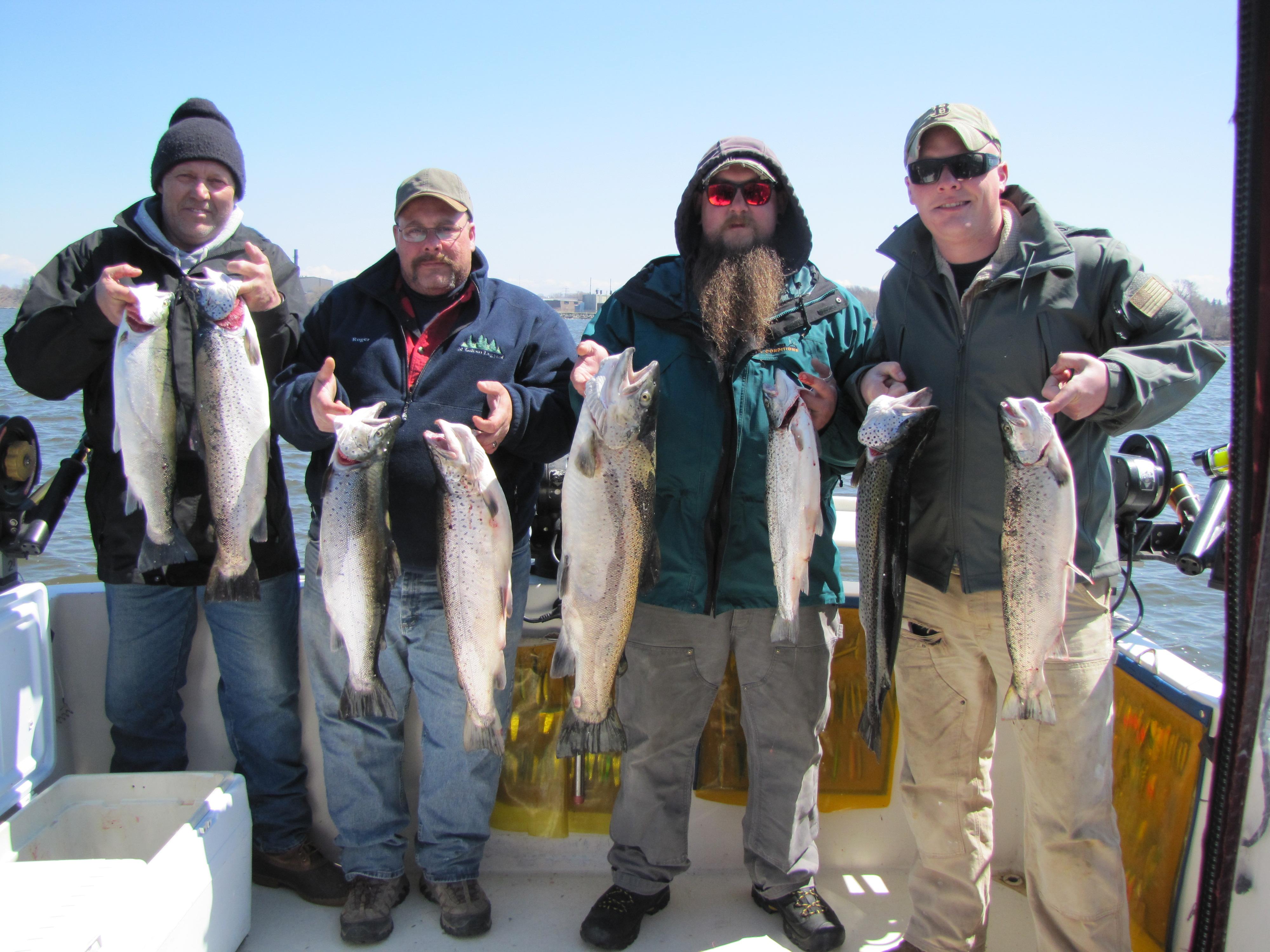 April fish doctor charters for Lake ontario salmon fishing report