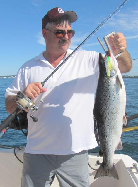 Lake ontario trout and salmon fishing the cone of for Lake ontario salmon fishing charters